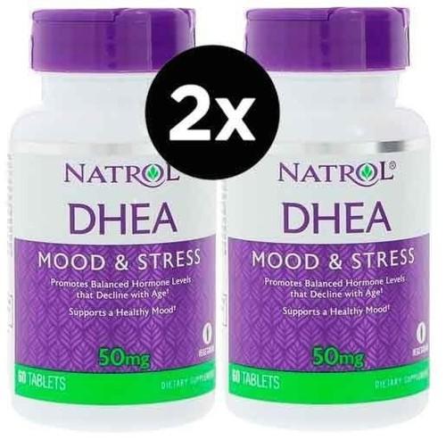 2 x DHEA 50 mg - Natrol - Total 120 comprimidos (Envio Internacional)