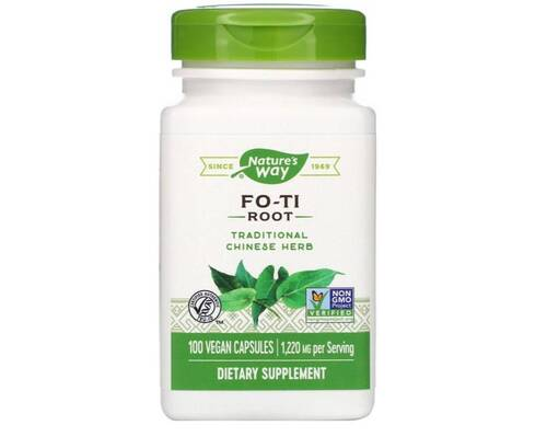 Fo-ti 610 mg - Nature´s Way - 100 Cápsulas