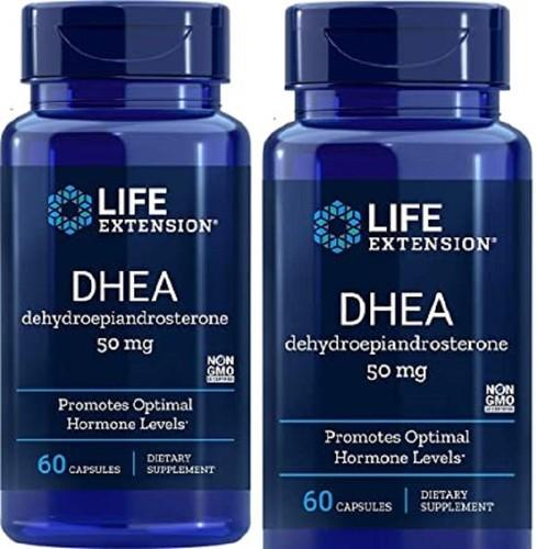 2 x DHEA 50 mg - Life Extension - total 120 cápsulas (Envio Internacional)