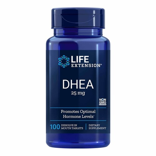 DHEA 25 mg Sublingual -  Life Extension - 100 comprimidos