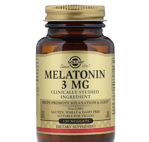 Melatonina 3 mg - Solgar - 120 Tablets