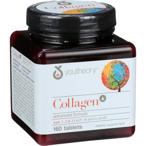 Colágeno 6000 mg (Tipo 1, 2 e 3) - Youtheory - 160 tablets - Frete Grátis