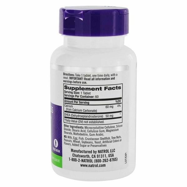 DHEA 50 mg - Natrol - 60 comprimidos