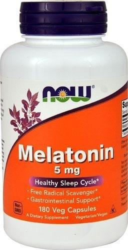 Melatonina 5 mg - Now Foods - 180 Cápsulas (hormônio do sono)
