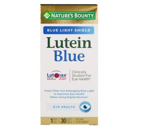 Luteína Azul - Nature´s Bounty - 30 Softgels