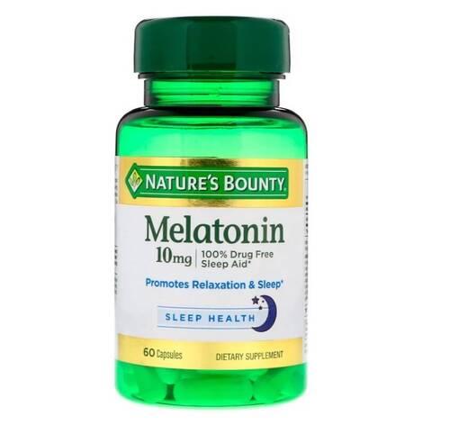 Melatonina 10 mg - Nature´s Bounty - 60 Cápsulas