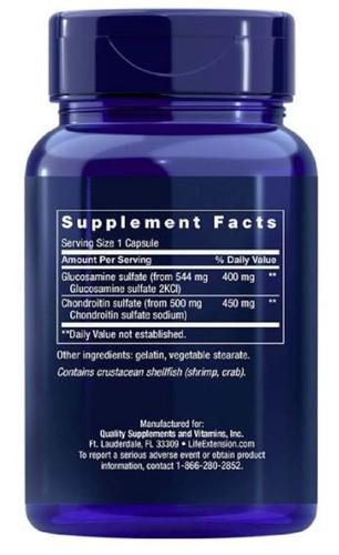 Glucosamina / Condroitina - Life Extension - 100 Cápsulas