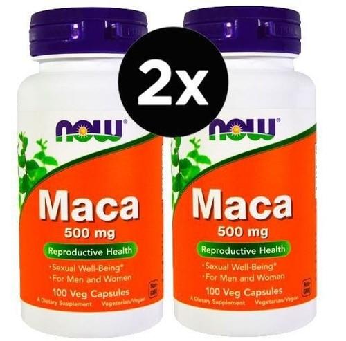2 x Maca - 500 mg - Now Foods - Total 200 cápsulas (Envio Internacional)