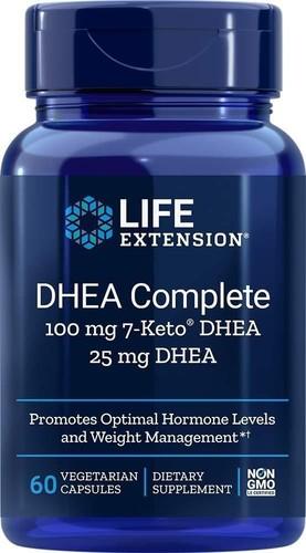 DHEA Complete Life Extension - 100 mg 7-keto Dhea + 25 mg Dhea - 60 Cápsulas (Envio Internacional)