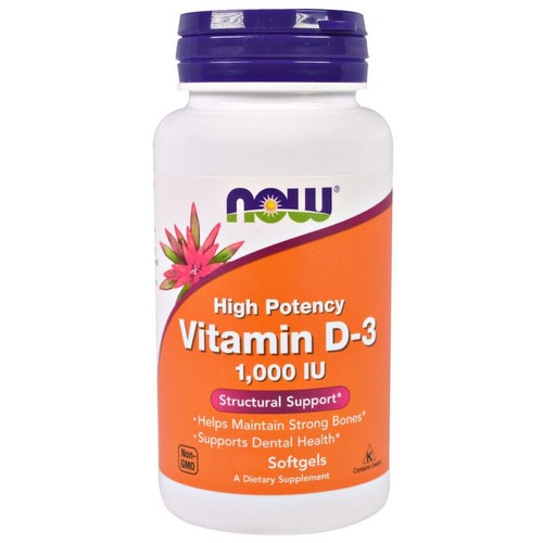 Vitamina D-3 1000 IU - Now Foods - 360 Softgels Val: 01/23
