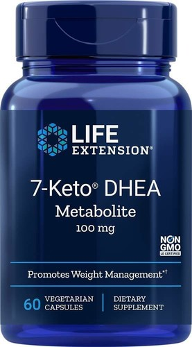 7-Keto DHEA 100 mg - LifeExtension - 60 cápsulas -  (Envio Internacional)