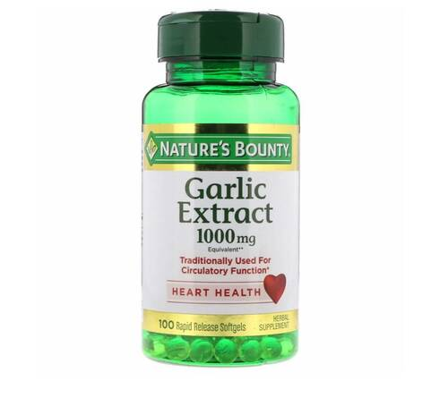 Extrato de Alho - Nature´s Bounty - 100 Softgels