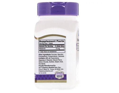 Melatonina 10 mg sublingual sabor cereja - 21 ST Century -Total 240 tablets