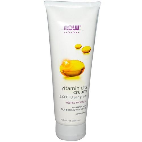 Creme de vitamina D-3  - 118 ml - Now Foods