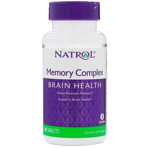 MEMORY COMPLEX (Suplemento para a MEMÓRIA) - Natrol - 60 Tablets  - (Envio Internacional)