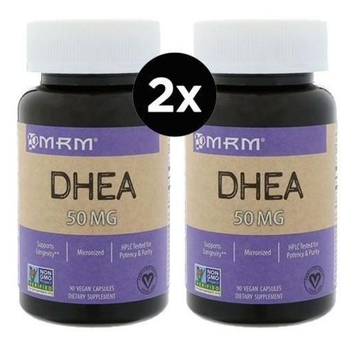 2 x DHEA 50 mg - MRM - Total 180 cápsulas