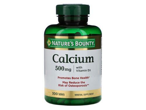 Cálcio 500 mg + Vitamina D3 - Nature´s Bounty - 300 tablets
