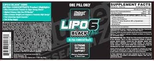 LIPO 6 BLACK ULTRA CONCENTRADO HERS - NUTREX - 60caps VAL 01.2020