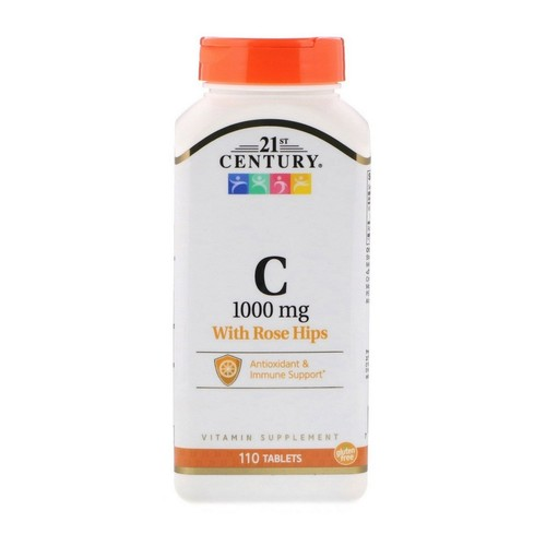 Vitamina C-1000 mg com Bioflavonoids & Rose Hips - 110 tablets