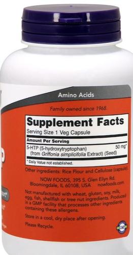 5-HTP 50 mg - Healthy Origins - 180 cápsulas