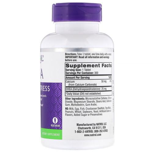 DHEA 25 mg  - NATROL - 300 comprimidos  - FRETE GRÁTIS