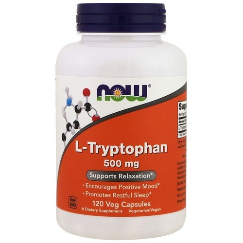 L-Triptofano (L-Tryptophan) 500 mg - Now Foods - 120 Cápsulas