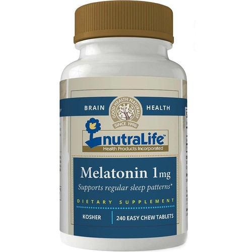 Melatonina 1 mg Sublingual - Nutralife - 240 comprimidos sabor Cereja