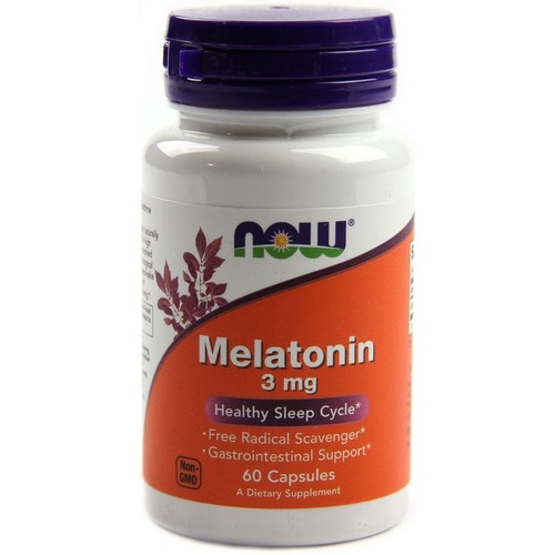 Kit Melatonina 3 mg - Now Foods - Total 120 cápsulas (hormônio do sono)