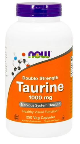 Taurina 1000 mg - Now Foods - 250 cápsulas