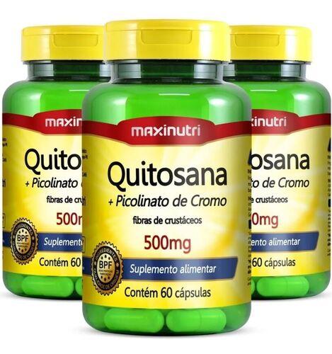 Quitosana + Picolinato De Cromo 500mg - Maxinutri - Total 180 Cápsulas