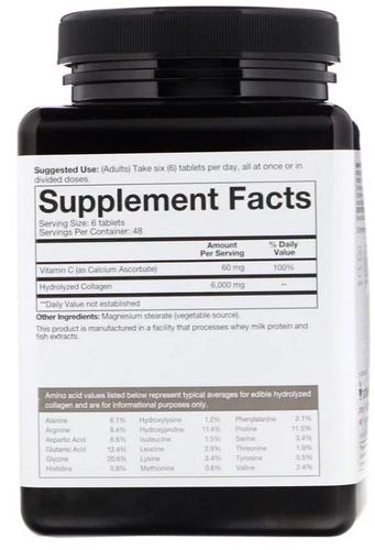 Colágeno 6000 mg (Tipo 1, 2 e 3) - Youtheory - 290 tablets - Frete Grátis