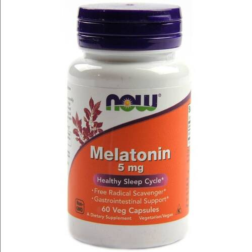 Kit 2x Melatonina 5 mg - Now Foods - Total 120 Tablets