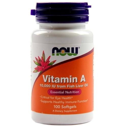 2 x Vitamina A 10.000 IU - Now Foods - Total 200 Softgels