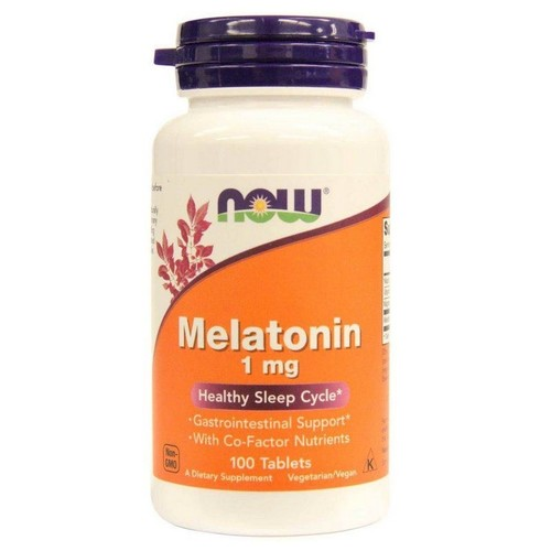 Melatonina 1 mg  -  Now Foods - 100 comprimidos