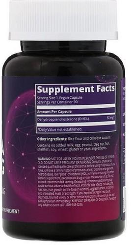 DHEA 50 mg - MRM - 90 cápsulas - Frete Grátis