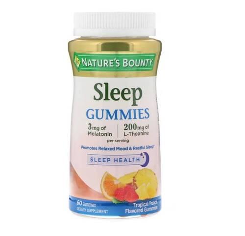 Gomas para Dormir com Anti-Stress - Frutas Tropicais - 60 Gomas