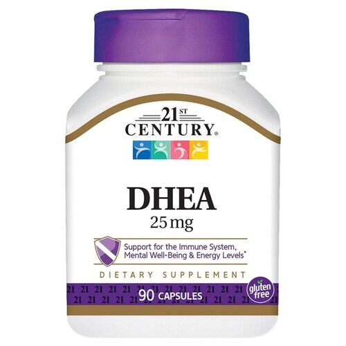DHEA 25 mg - 21 st Century - 90 cápsulas