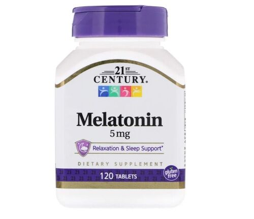 Melatonina 5 mg - 21st century  - 120 comprimidos
