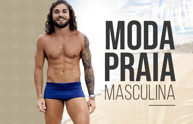 Moda Praia Masculina l Sunga e Camisa de Proteção UV
