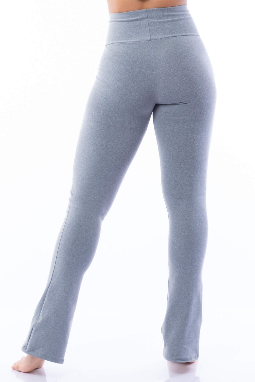 Calça Legging Flare Poliamida Mescla