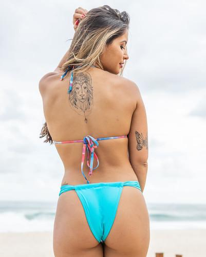 Biquíni Cortininha com Calcinha Sumô Azul