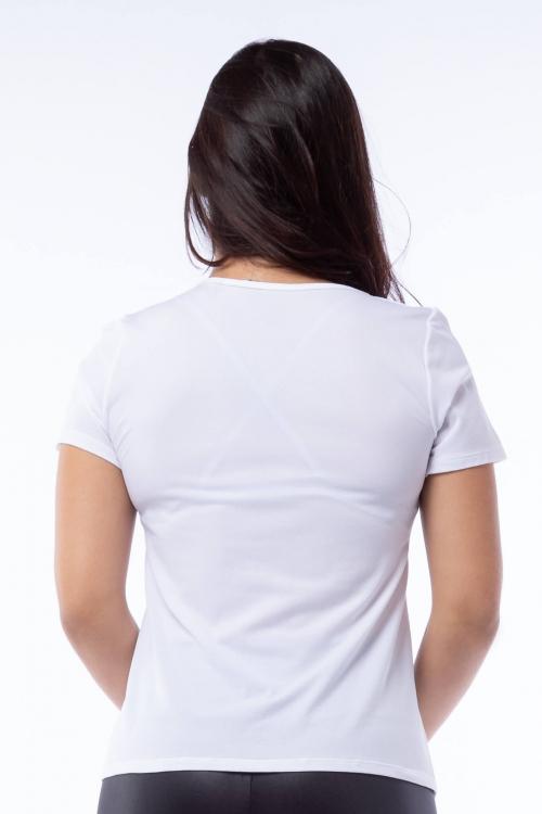 Blusa Poliamida Branca com Silk