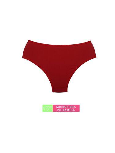 Calcinha Cintura Média Microfibra com Detalhe em Renda Vermelho Desejo