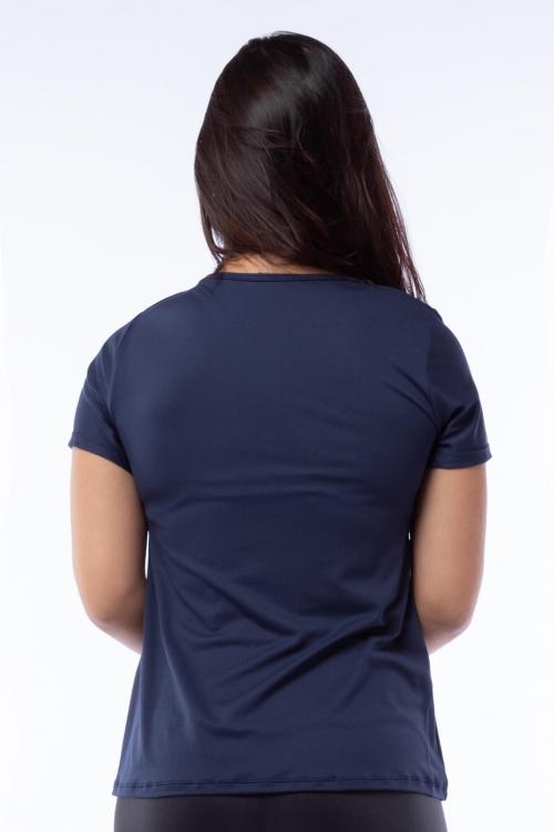 Blusa Poliamida Marinho com Silk