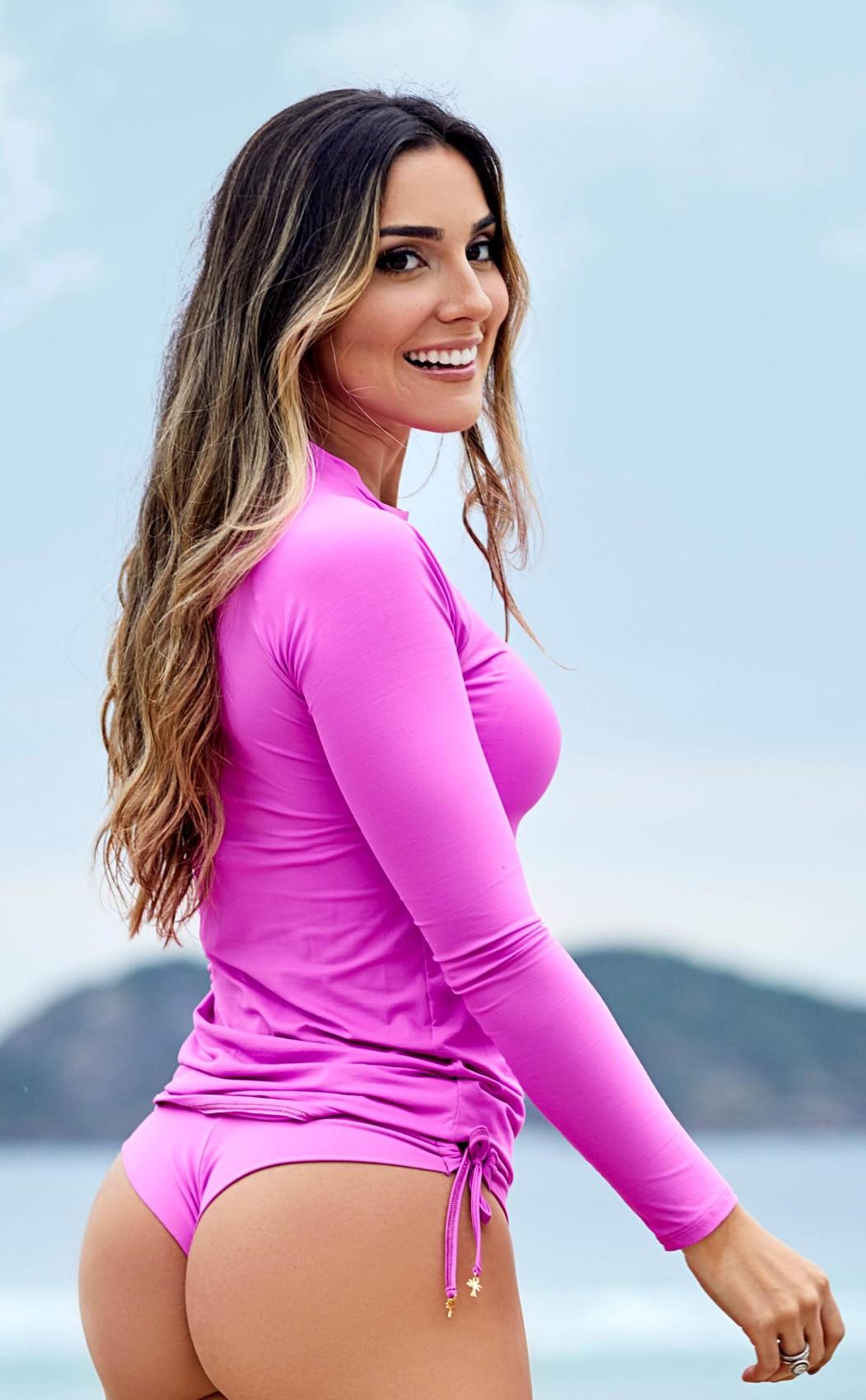 Blusa Proteção UV50+ Manga Comprida Rosa