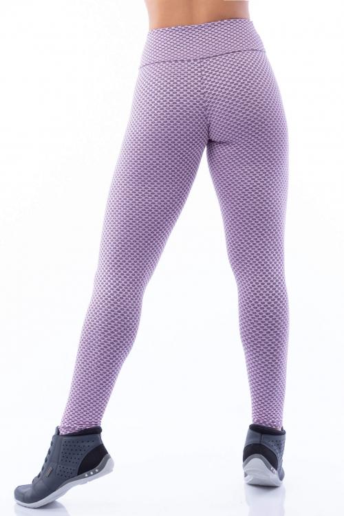 Calça Legging Poliamida com Textura Aurora Boreal
