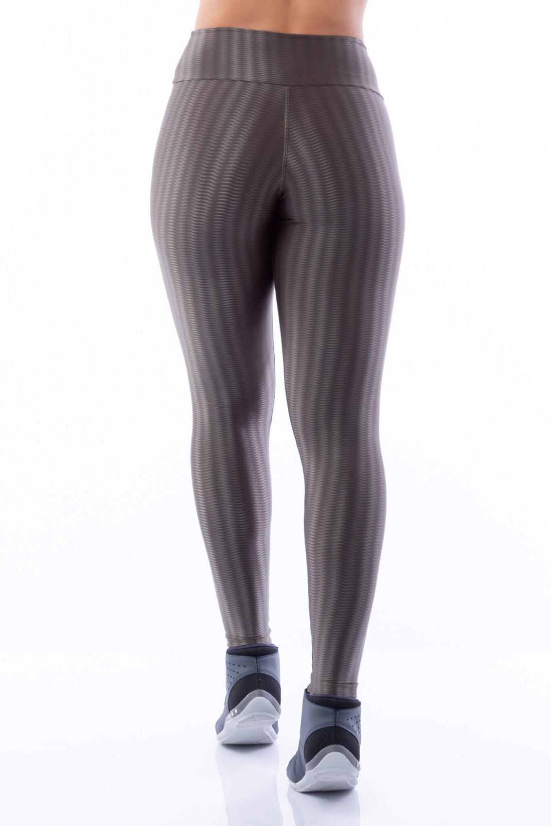 Calça Legging Básica Poliamida Brilho Zaraq