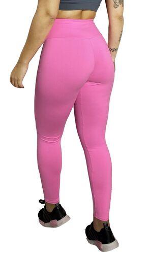 Calça Legging Poliamida Básica Rosa Chiclete