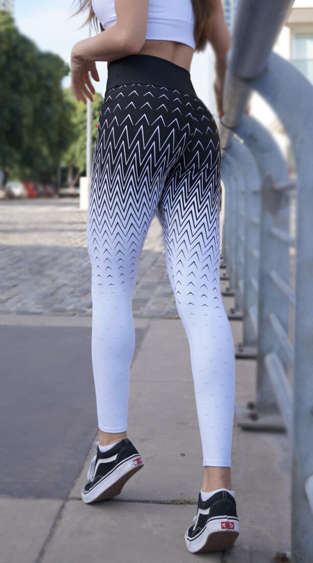 Calça Legging Modeladora Zero Transparência Jacquard Estampa Localizada