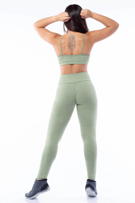 Calça Legging Poliamida com Textura Caipirinha